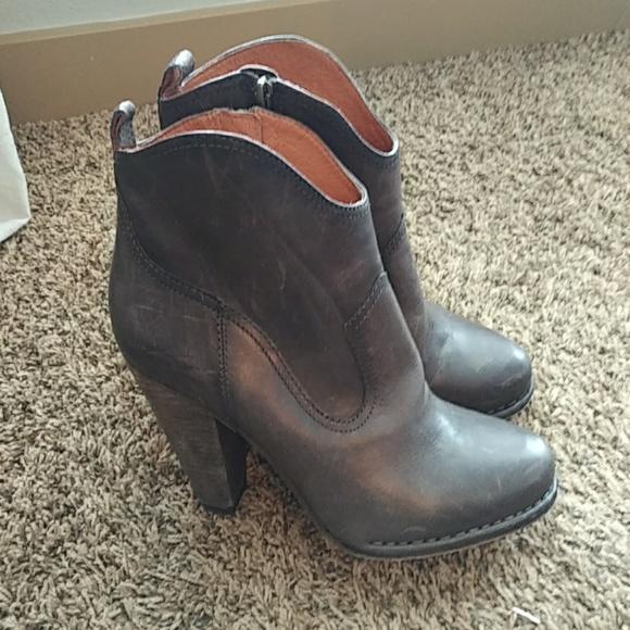 4e0fe461cc Frye Shoes | Madeline Short Leather Boot In Smoke | Poshmark